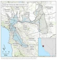 san francisco delta map san francisco bay delta conservation unit california state