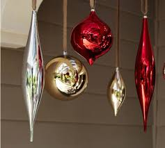outdoor oversized ornaments gold silver set of 4 from pottery