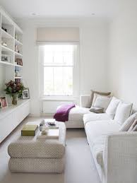 Decorator White Walls Trendy Enclosed Living Room Photo In London With White Walls And