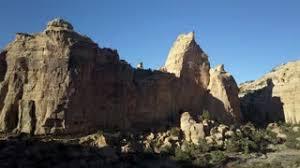 Landscape Rock Utah by Aerial Slide Eagle Canyon Arch Sheer Cliff Valley Utah Part 2 4k