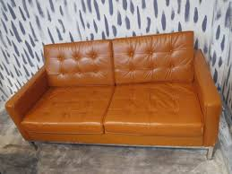 Leather Mid Century Sofa Vegan Leather Mid Century Sofa Shophousingworks
