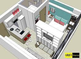 e house plans projeto arquitrecos soluções para apartamento de 25 m2 tiny