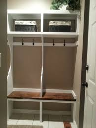 Ikea Hack Bench Small Mudroom Cubby Design Made From Wood With Bench Seat And