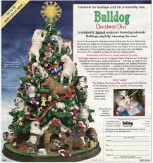 Danbury Mint Bulldog Christmas Tree