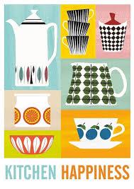 affiches cuisine cuisine imprimer affiche milieu du siècle affiche de par handz