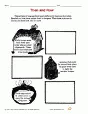 then and now colonial times printable 3rd 4th grade teachervision