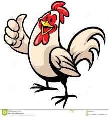 cartoon of chicken with thumb up stock vector image 56089280