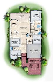 mediterranean style house plan 4 beds 3 baths 2457 sq ft plan