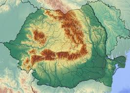 Topographical Map Of Europe by Large Topographical Map Of Romania Vidiani Com Maps Of All
