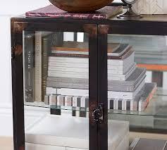 Wooden Bedside Bookcase Shelving Display Flynn Bedside Table Pottery Barn