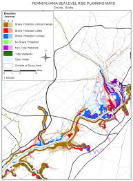 Pennsylvania County Map by Sea Level Rise Planning Maps Likelihood Of Shore Protection In