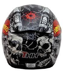 thh motocross helmet thh ts 41 hell rider full face helmets black m buy thh ts 41