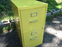 Yellow Metal Filing Cabinet Yellow Two Drawer Metal Filing Cabinet Attainable Vintage