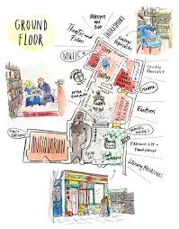 Company Floor Plan by An Illustrated Map Inside Shakespeare And Company U2014 June Letters