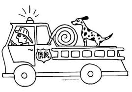 Fire Truck Coloring Pages Preschoolers Printable Kids Colouring Coloring Truck Pages