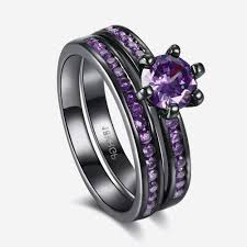 black and purple engagement rings inspirational black and purple wedding rings team 570