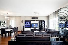 polo dining room tv unit with led and wall mirror bobo mobilya