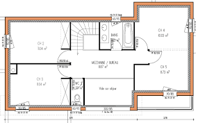 plan maison 100m2 3 chambres plan maison r 2 maroc