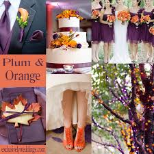 wedding colors plum sage plum orange wedding colors