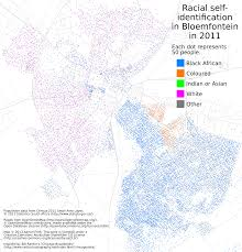 Africa Population Map by Dot Maps Of Racial Distribution In South African Cities U2013 Adrian