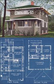 foursquare house plans modern stucco foursquare house plan 1921 c l bowes american