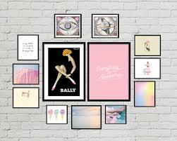 Gallery Art Wall Pretty In Pastel Gallery Wall For An Elegant Bedroom U2022 Little Gold