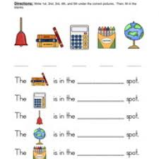 ordinal number worksheets worksheets