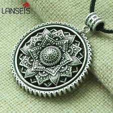 ethnic necklace aliexpress images Lanseis 1pcs 3d tibetan mandala women necklace zen boho yoga jpg