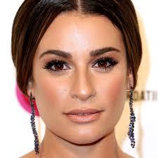 lea michele used to do what to cover up acne glamour