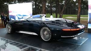 rose gold mercedes mbz maybach unveiled its vision 6 cabriolet live trading news
