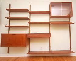 Wall Shelf Unit Teak Danish Modern Wall Shelf Unit Bookshelf Poul Cadovius At Wall