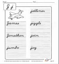 curisve j writing cursive j cursive practice worksheets teachervision