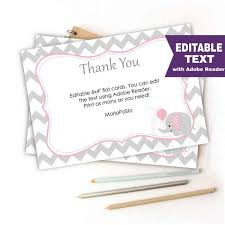 baby shower notes editable chevron thank you notes printable baby shower cards