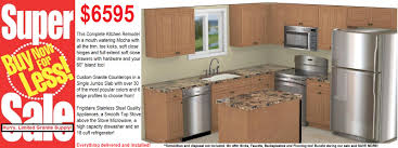6595 cabinets island granite countertops ss appliances