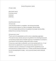 resignation notice template 10 free word excel pdf format