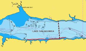 lake sakakawea map lake sakakawea dakota northland fishing tackle