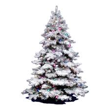 artificial christmas tree vickerman 3ft flocked alaskan unlite white on green