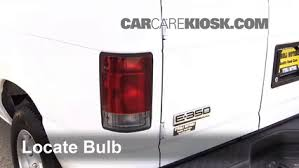 2008 ford f250 tail light bulb tail light change 2008 2014 ford e 350 super duty 2008 ford e 350