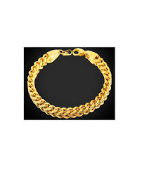 gold plated bracelet chain images Rock style gold plated bracelet wheat chain mens bracelets jpg