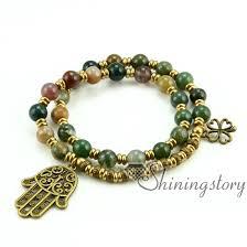 bracelet beaded images Om bracelet ohm jewelry double layer wrap bracelets semi precious jpg