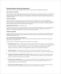 high resume summary exles professional statement exle best of resume summary exle 8