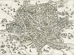 Map Rome Orange Logic Map Of Rome 1500s