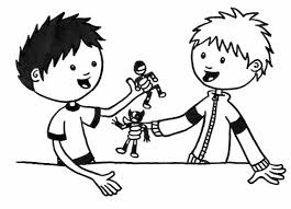 sharing food clipart black and white
