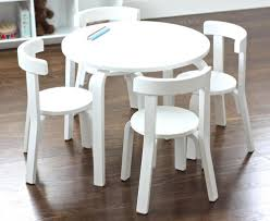 White Round Table And Chairs by Selecting The Right Childrens Table And Chairs For Playroom