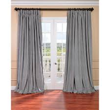 Arabic Curtains Exclusive Fabrics Silver Grey Velvet Blackout Extra Wide Curtain