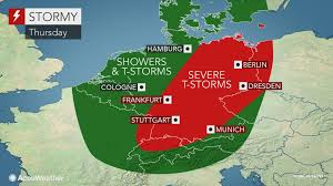 Map Of Stuttgart Germany by Severe Storms To Heighten Flood Risk Across Germany Into Thursday