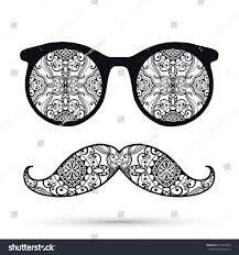 black white retro sunglasses decorative stock vector