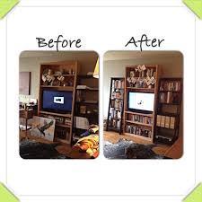 Bookshelf Organization Before And After U2013 Apartment Organization U2013 Simply Home Aid