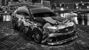 altezza car black toyota altezza jdm anime aerography city car 2014 el tony