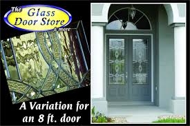 Decorative Glass Doors Interior 8 Ft Front Doors With Partial Glass Door Inserts For A 3 4